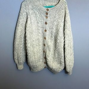 Vintage Handmade Unisex Sweater With Pockets